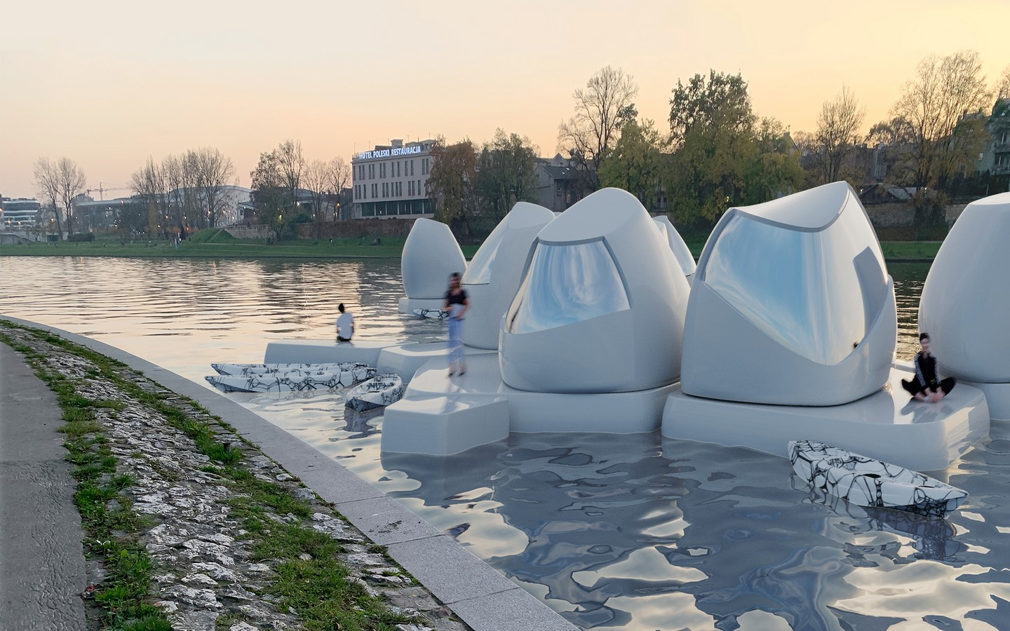 Floating office pods are the future of a truly flexible lifestyle and remote work Designed by Agnieszka Białek Sheet3