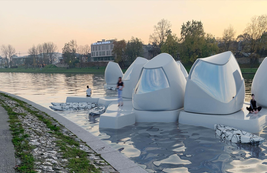Floating office pods are the future of a truly flexible lifestyle and remote work Designed by Agnieszka Białek
