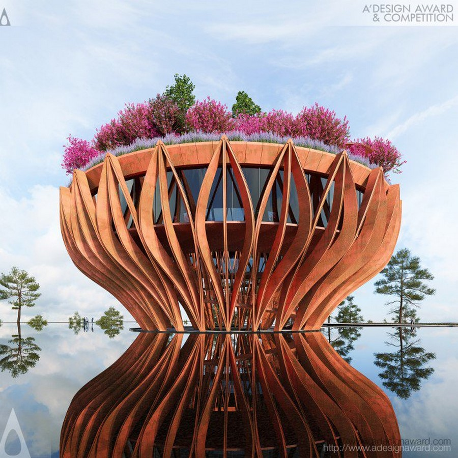 The Tower Flower, features a coffee bar that hovers above the clouds for a rare view of Da Lat designed by VHA Architects Sheet1