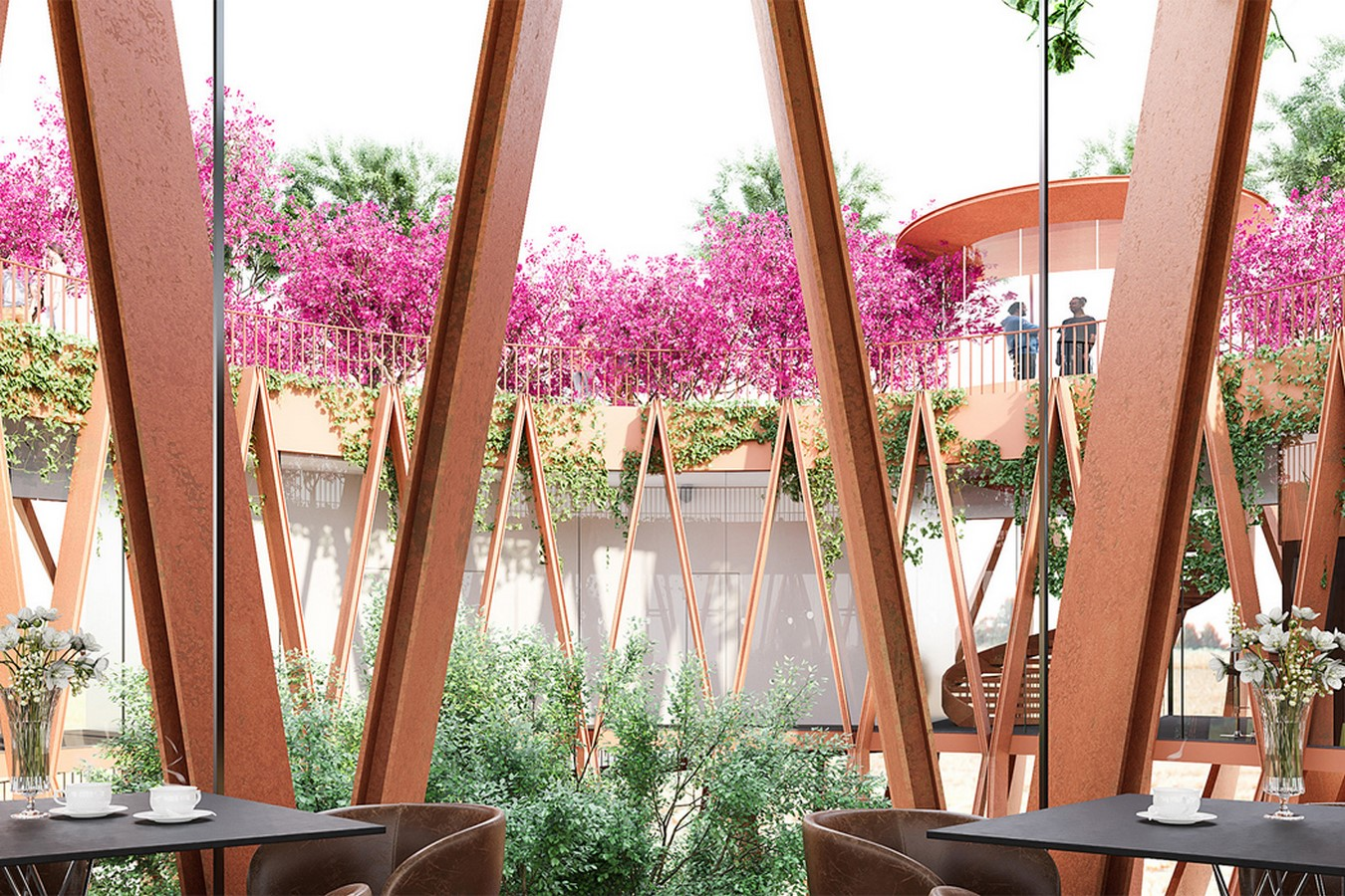 The Tower Flower, features a coffee bar that hovers above the clouds for a rare view of Da Lat designed by VHA Architects Sheet3