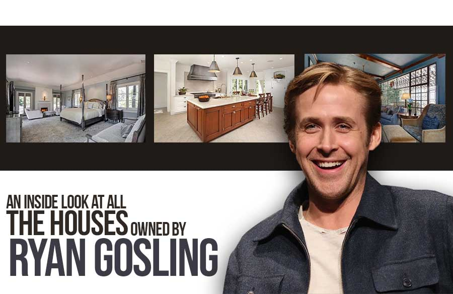 An inside look at all the houses owned by Ryan Gosling