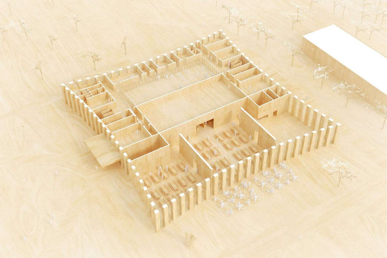 Competition to Design Mess Building for Military Academy in Stockholm won by Tham & Videgård Sheet3