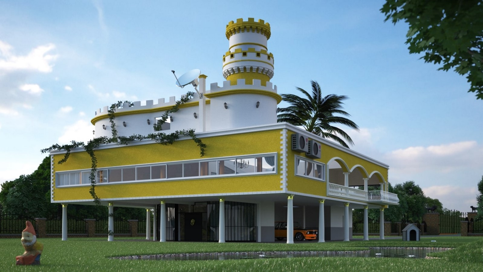Kitsch Architecture: Developed by industrialization and urbanization Sheet1
