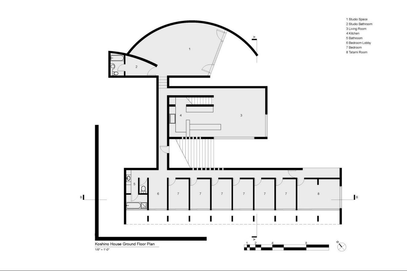 Koshino House by Tadao Ando: The play of Light Sheet11