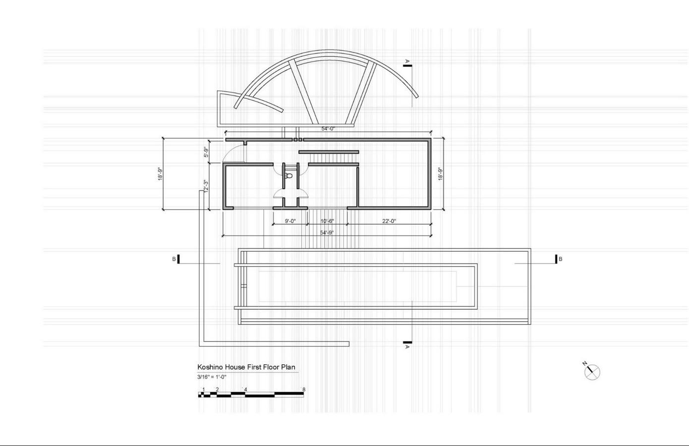 Koshino House by Tadao Ando: The play of Light Sheet12