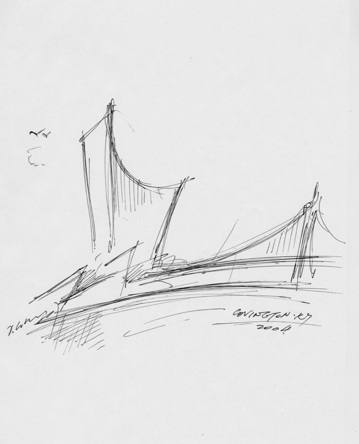 Ascent At Roebling Bridge by Daniel Libeskind: Bridging Gaps Sheet3