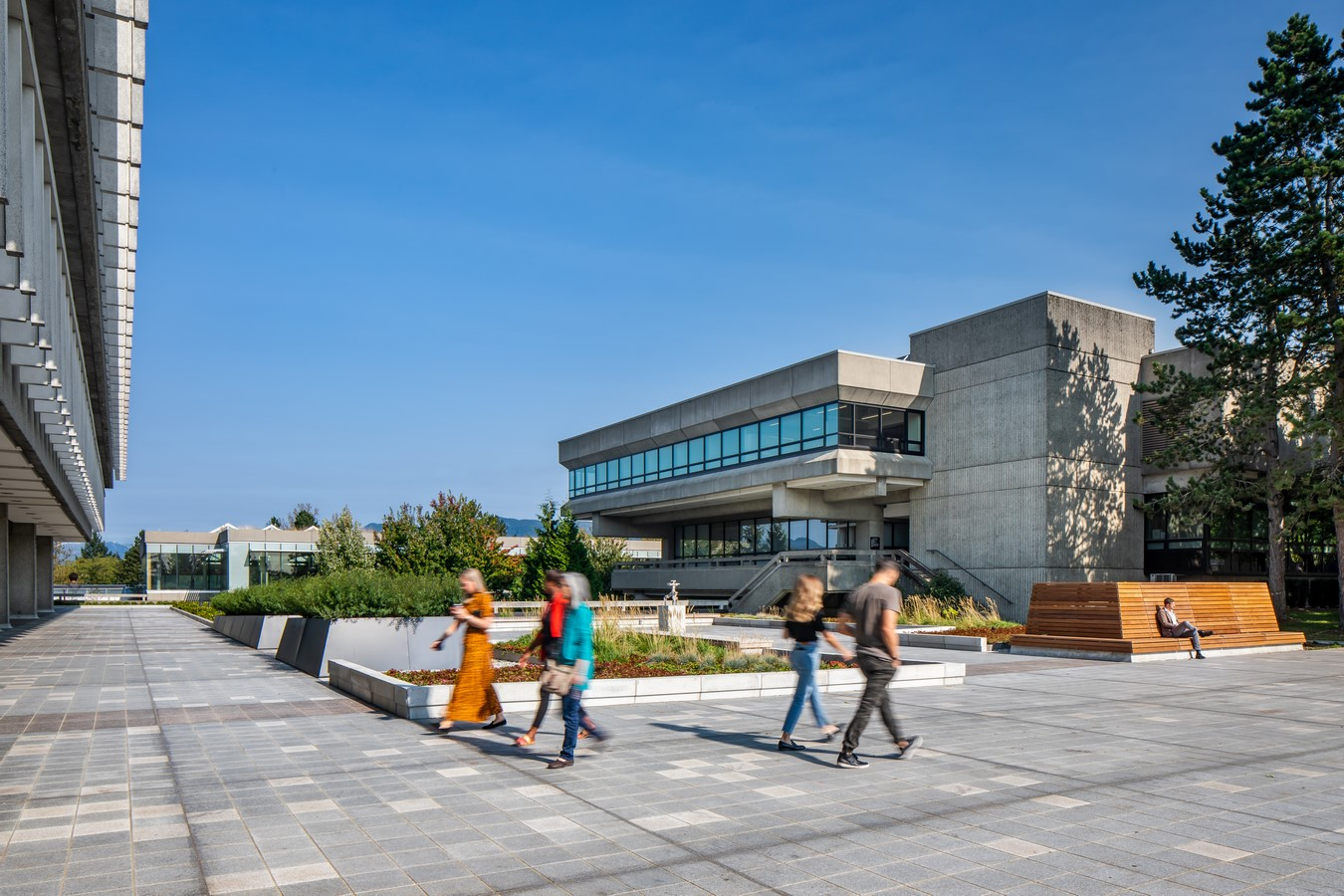 Built in 1965, the Erickson / Massey Simon Fraser University Campus is among the most significant pieces of Canadian architecture. The Plaza serves a double function: as an open-air public space and as a roof sheltering education spaces beneath.: Sheet 3