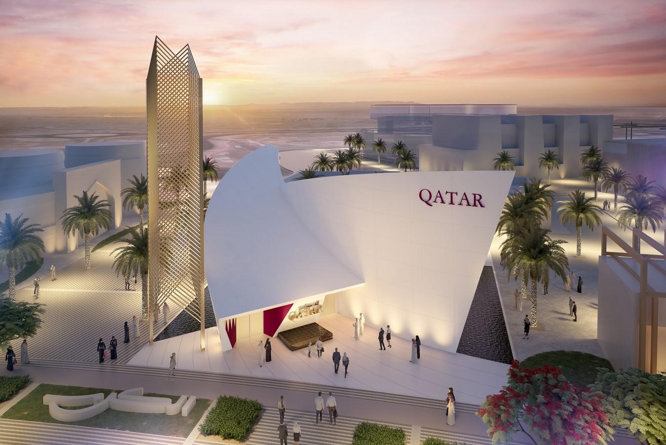 The Qatar Pavilion for the Expo 2020 Dubai design revealed by Santiago Calatrava - Sheet1