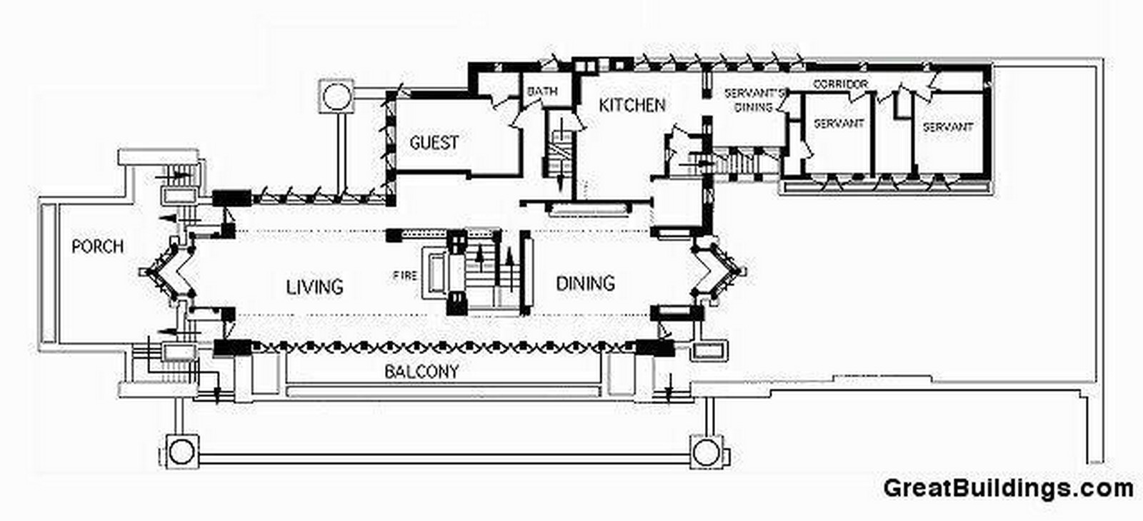 Frederick C. Robie House by Frank Lloyd Wright: Prairie style of architecture - Sheet3