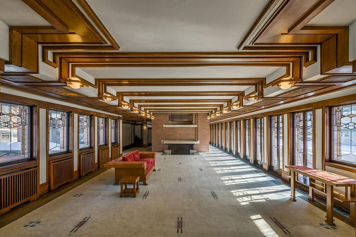 Frederick C. Robie House by Frank Lloyd Wright: Prairie style of architecture - Sheet6