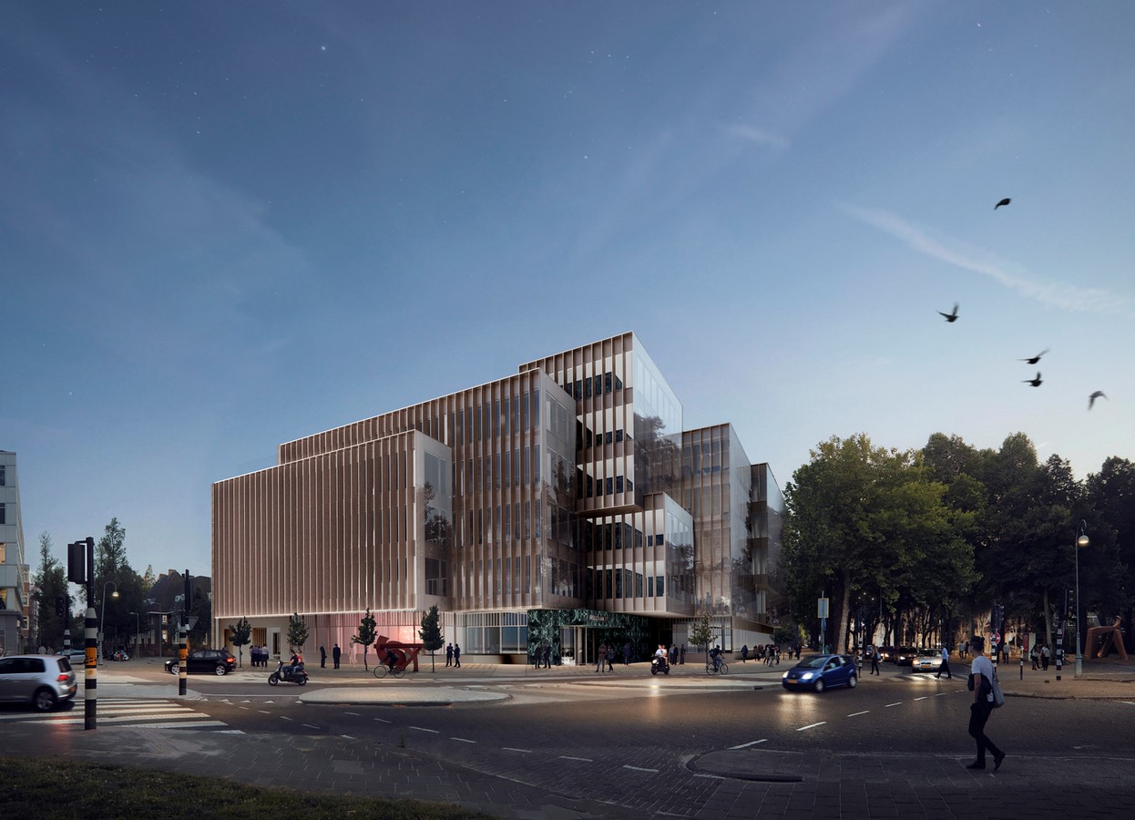 Design for a five-story office building in Amsterdam revealed by OMA / David Gianotten - Sheet3