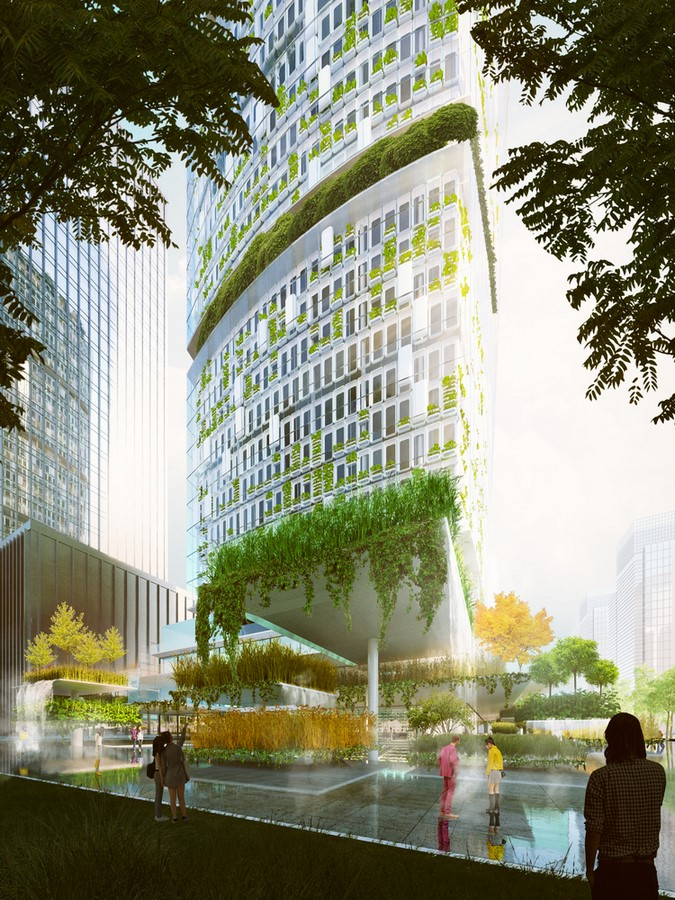 """World's First Farmscraper"" Featuring Vertical Hydroponic Farm designed by Carlo Ratti Associati - Sheet1"