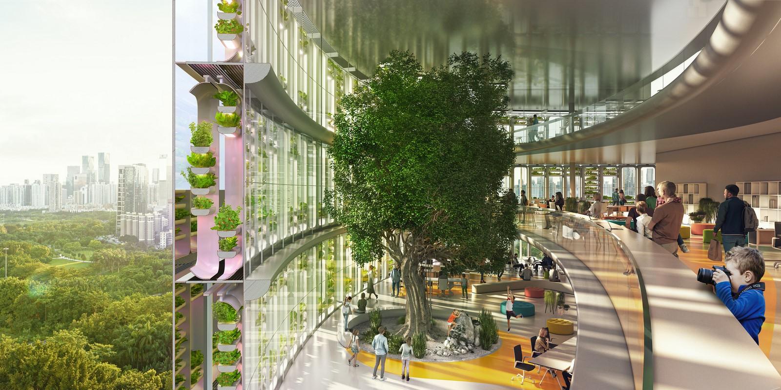 """World's First Farmscraper"" Featuring Vertical Hydroponic Farm designed by Carlo Ratti Associati - Sheet2"