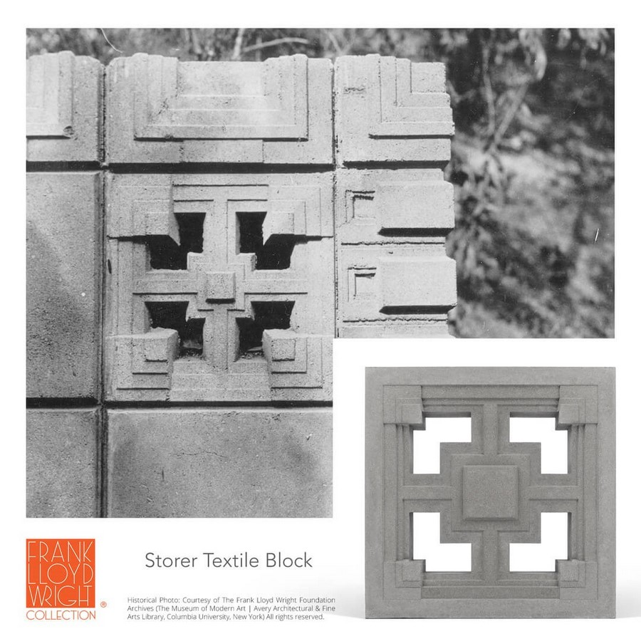 Textile Blocks and 3D Cement Tiles inspired by Frank Lloyd Wright - Sheet9