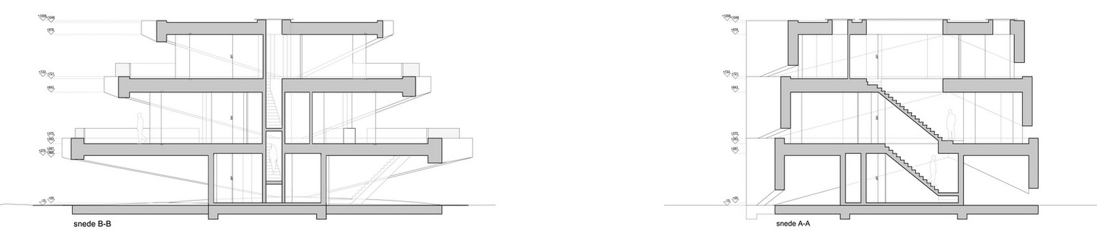 Belgian House Featuring Asymmetrical Angled Concrete Canopies designed by GRAUX & BAEYENS Architecten - Sheet16