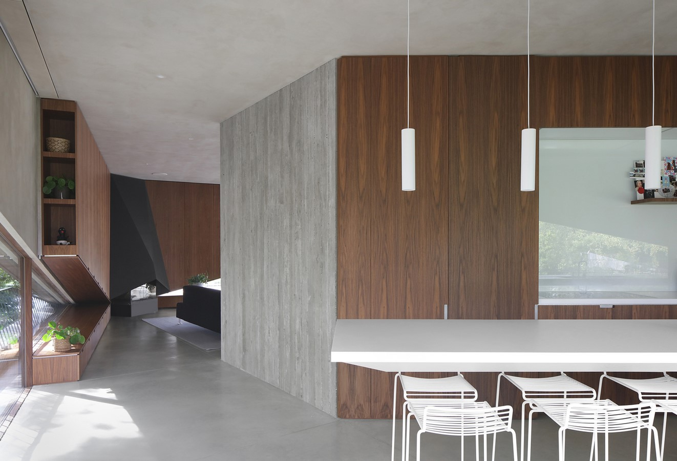Belgian House Featuring Asymmetrical Angled Concrete Canopies designed by GRAUX & BAEYENS Architecten - Sheet8
