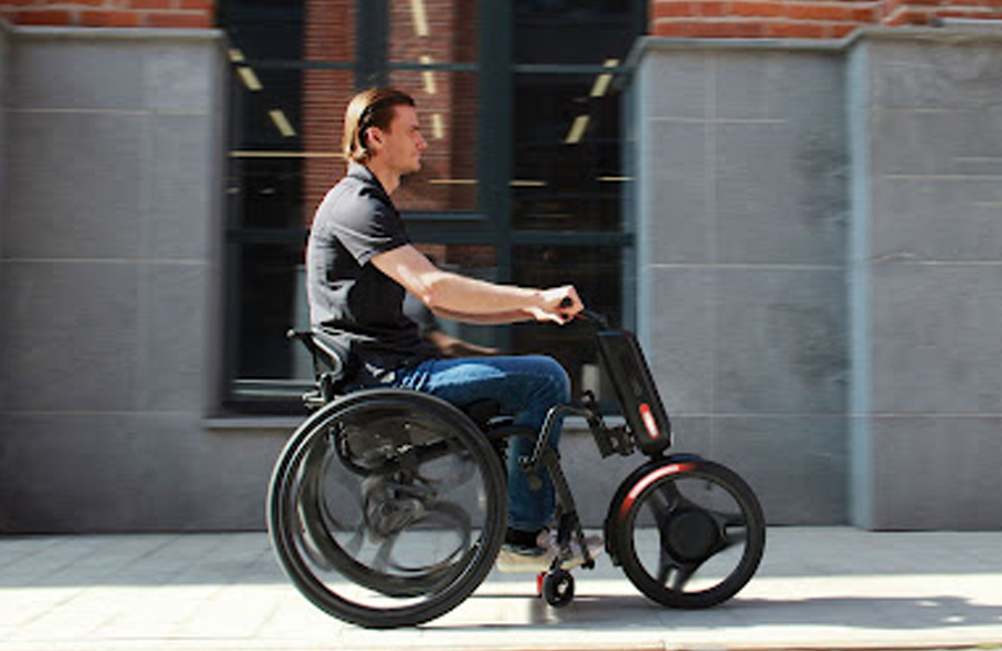 SupremeMotors Turn a wheelchair into an electric vehicle known as UNAwheel maxi