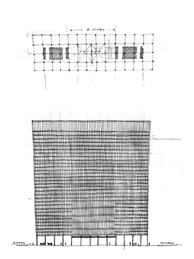 Chicago Federal Centre by Ludwig Mies van der Rohe: A union of Buildings - Sheet3