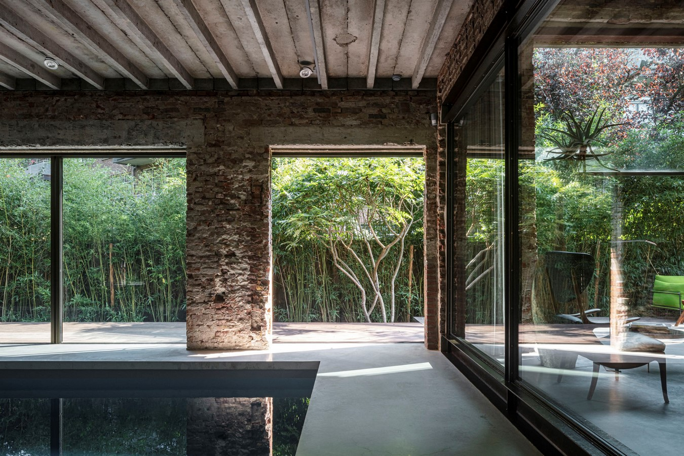 Abandoned 1940s Sports Building converted into New Villa With Naked Brick Walls by MASA Architects - Sheet11