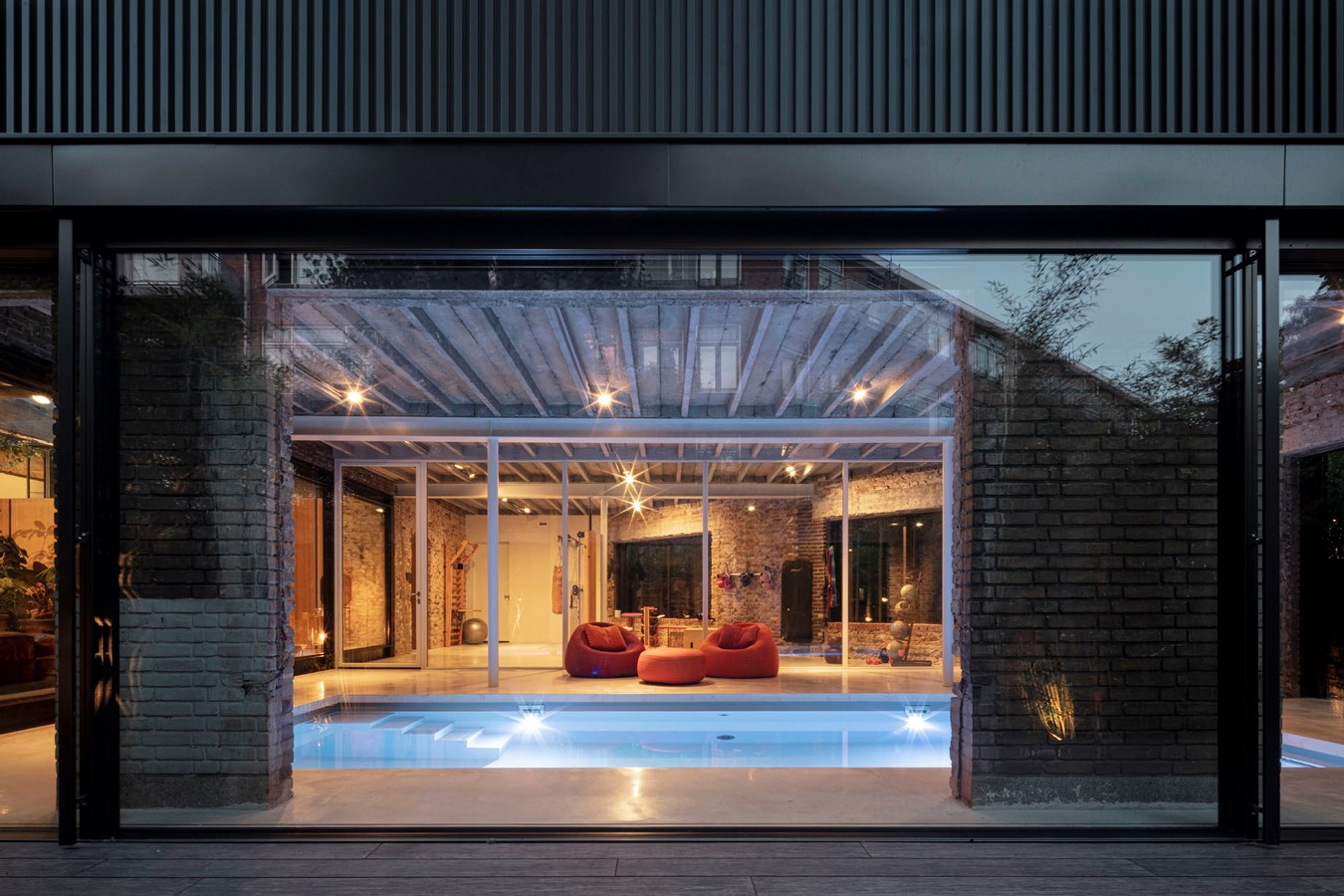 Abandoned 1940s Sports Building converted into New Villa With Naked Brick Walls by MASA Architects - Sheet12