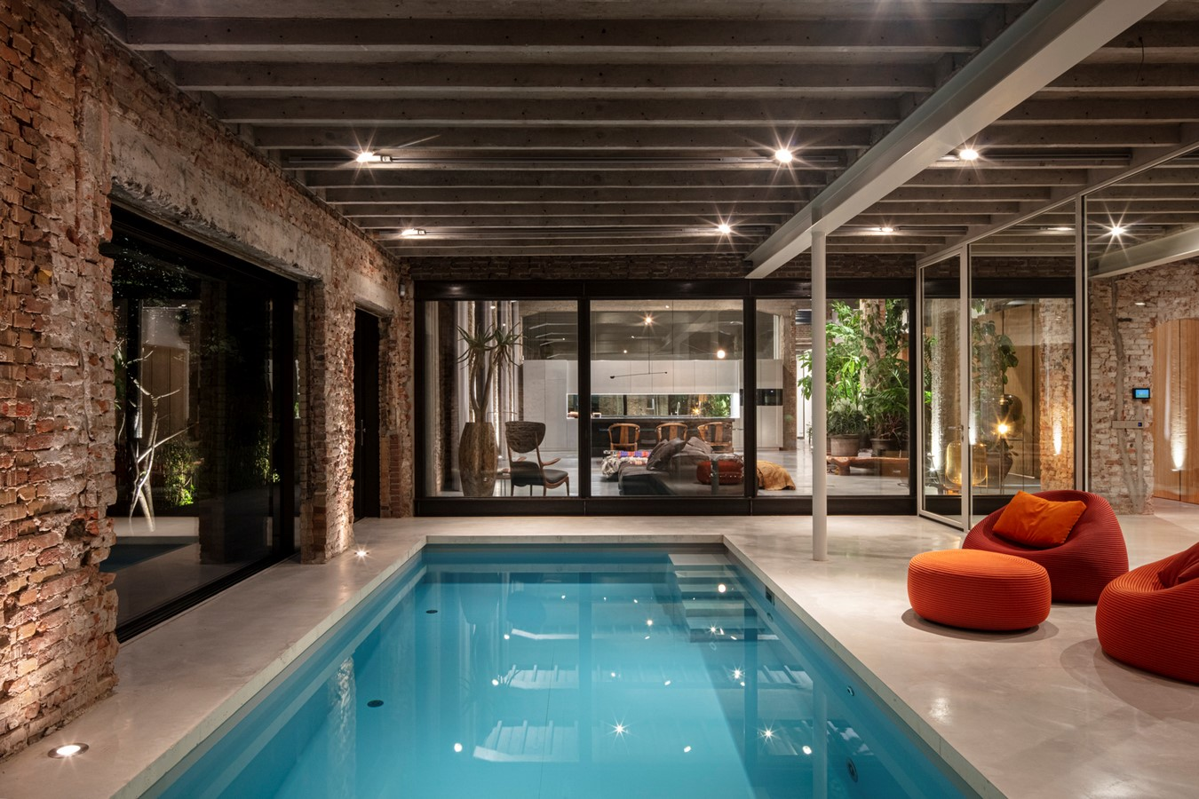 Abandoned 1940s Sports Building converted into New Villa With Naked Brick Walls by MASA Architects - Sheet14