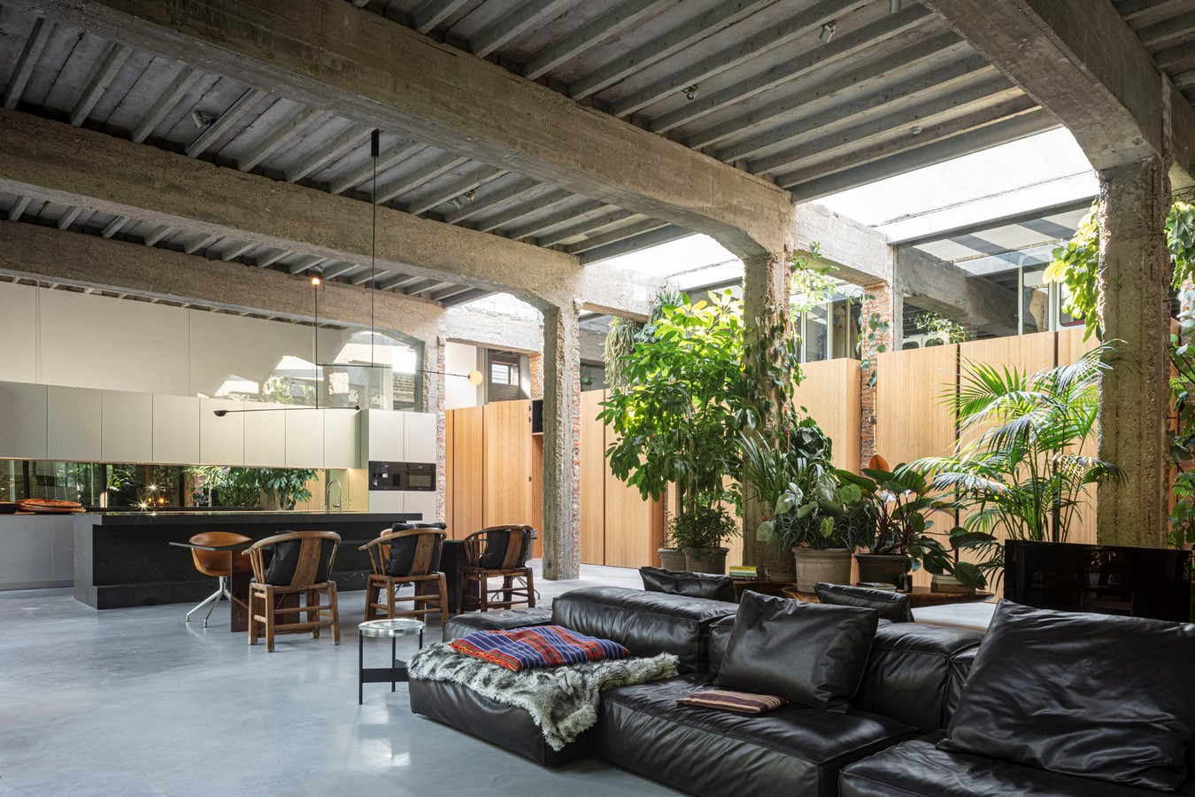Abandoned 1940s Sports Building converted into New Villa With Naked Brick Walls by MASA Architects - Sheet2