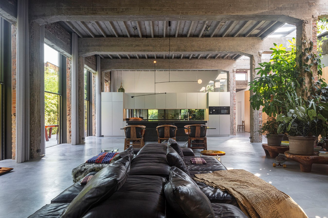Abandoned 1940s Sports Building converted into New Villa With Naked Brick Walls by MASA Architects - Sheet4