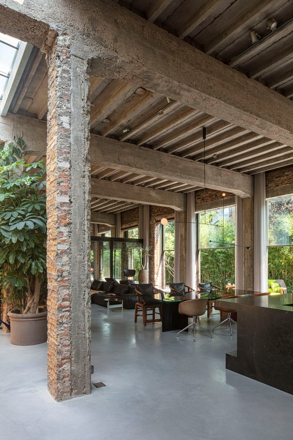 Abandoned 1940s Sports Building converted into New Villa With Naked Brick Walls by MASA Architects - Sheet5