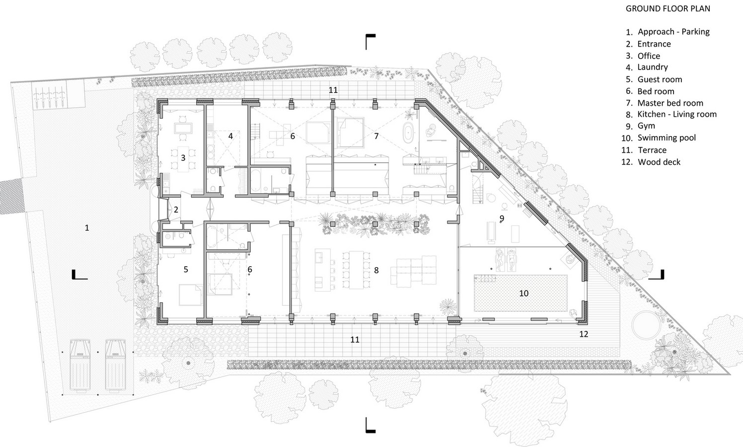 Abandoned 1940s Sports Building converted into New Villa With Naked Brick Walls by MASA Architects - Sheet7