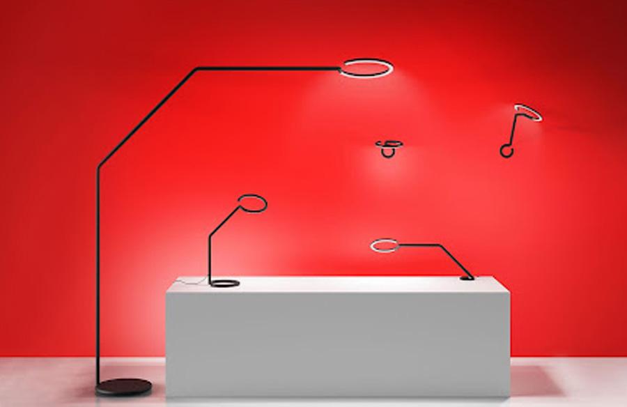 Vine Light for Artemide designed by Bjarke Ingels looks like a doodle