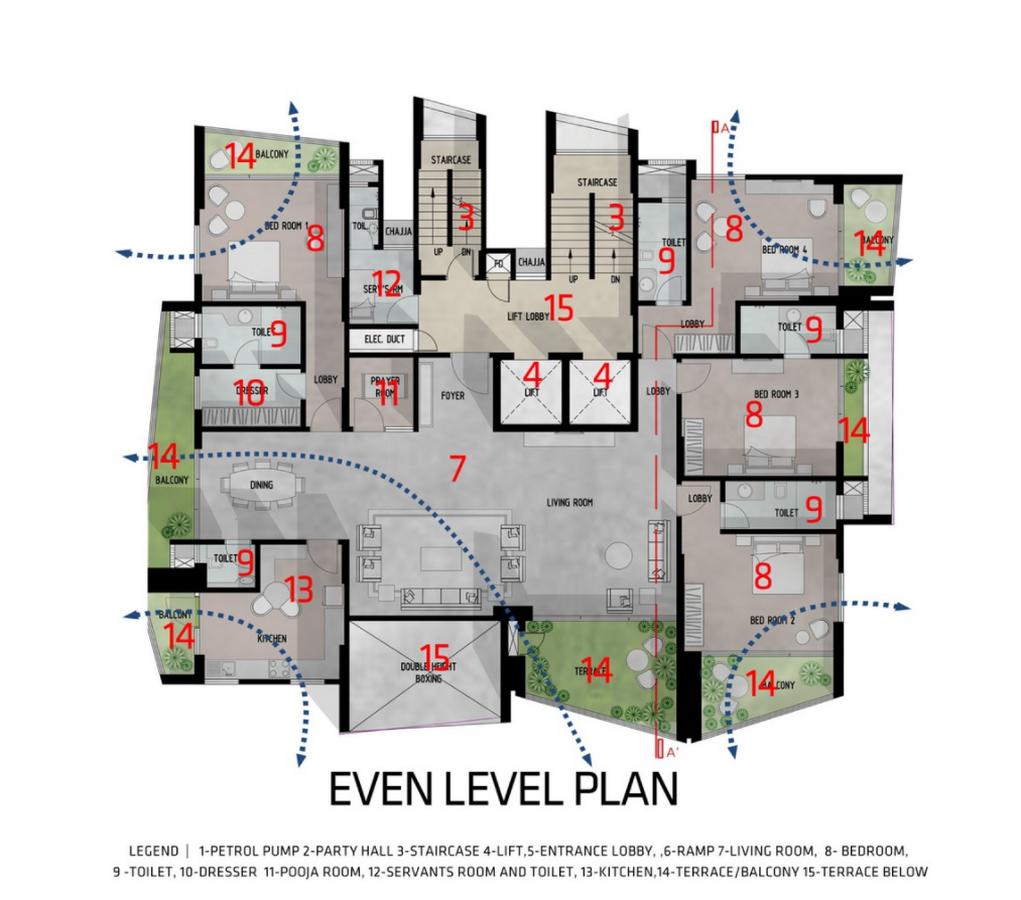 Ishatvam 9 by Sanjay Puri Architects: The extended decks - Sheet4