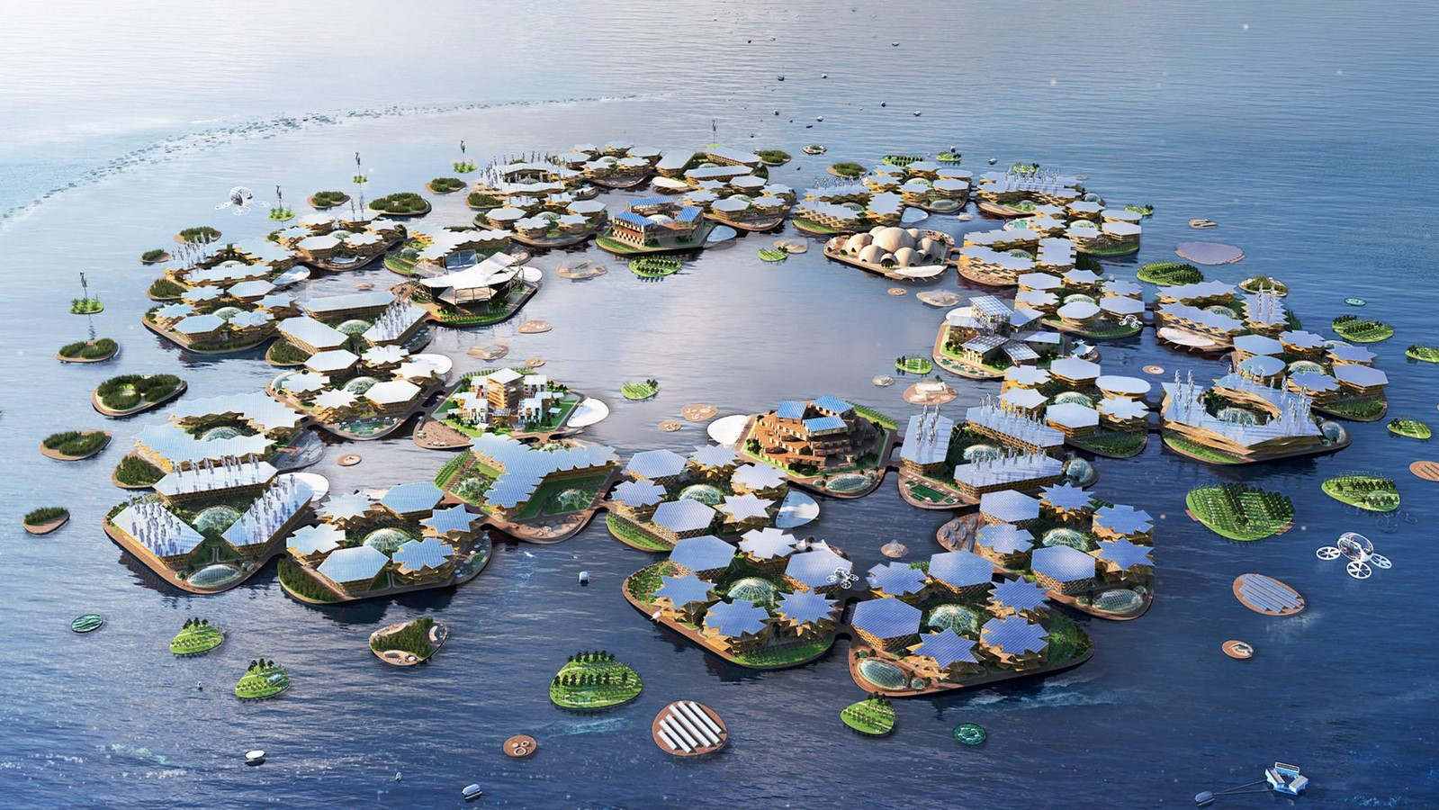 Oceanix City by Bjarke Ingles: The Floating City - Sheet1