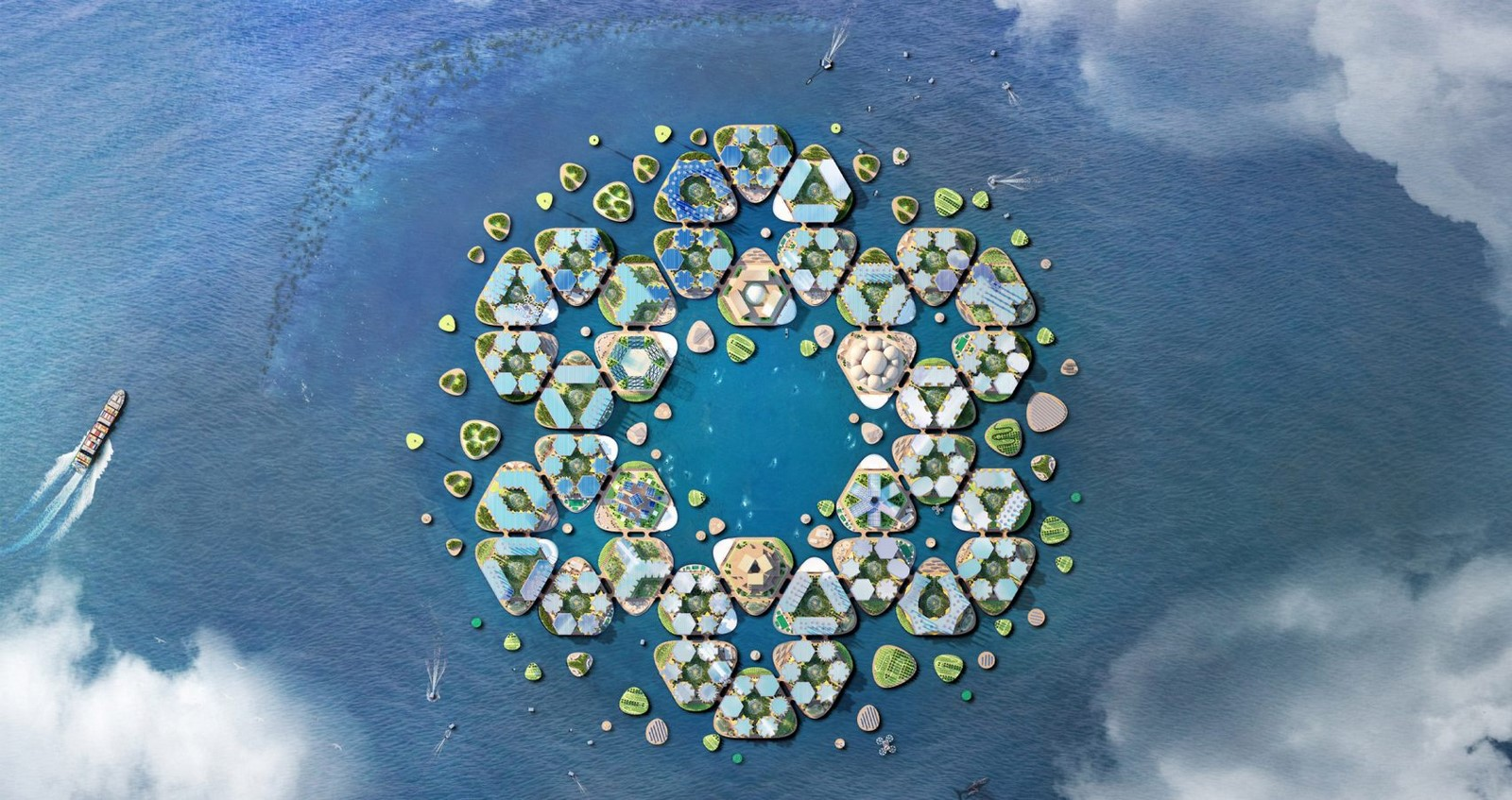 Oceanix City by Bjarke Ingles: The Floating City - Sheet2