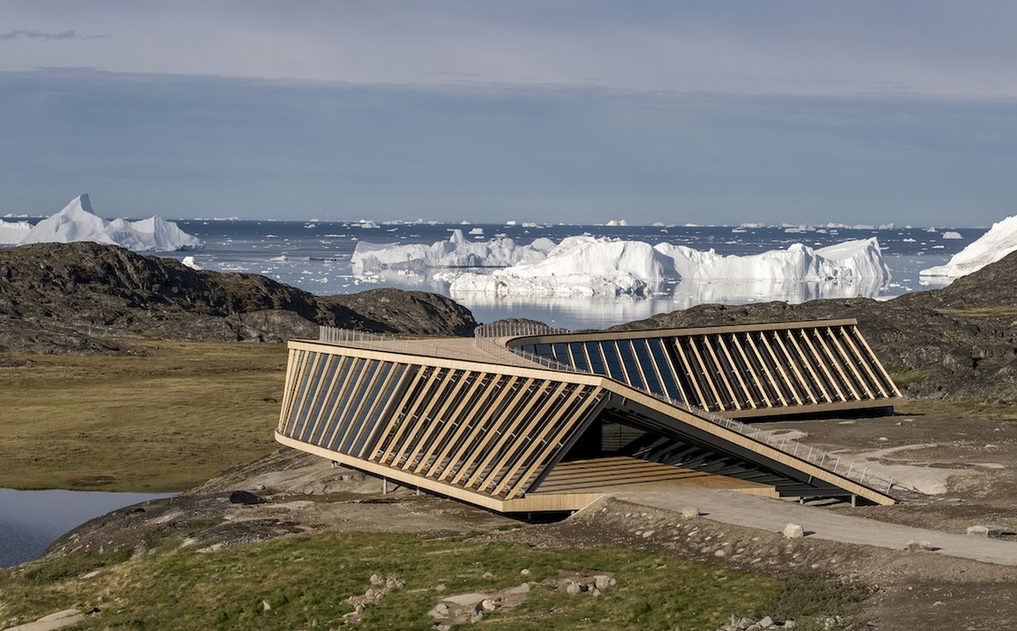 Curved Icefiord Centre In The UNESCO-Protected Area Of Greenland completed by Dorte Mandrup - Sheet4