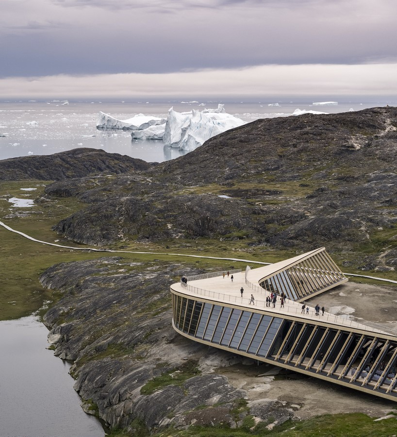 Curved Icefiord Centre In The UNESCO-Protected Area Of Greenland completed by Dorte Mandrup - Sheet7