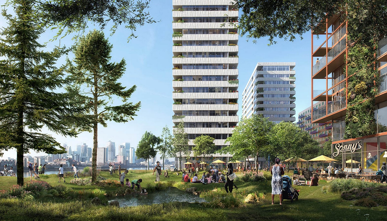 Masterplan by OMA / Reinier De Graaf For Morden Wharf In London Gets Planning Consent - Sheet2