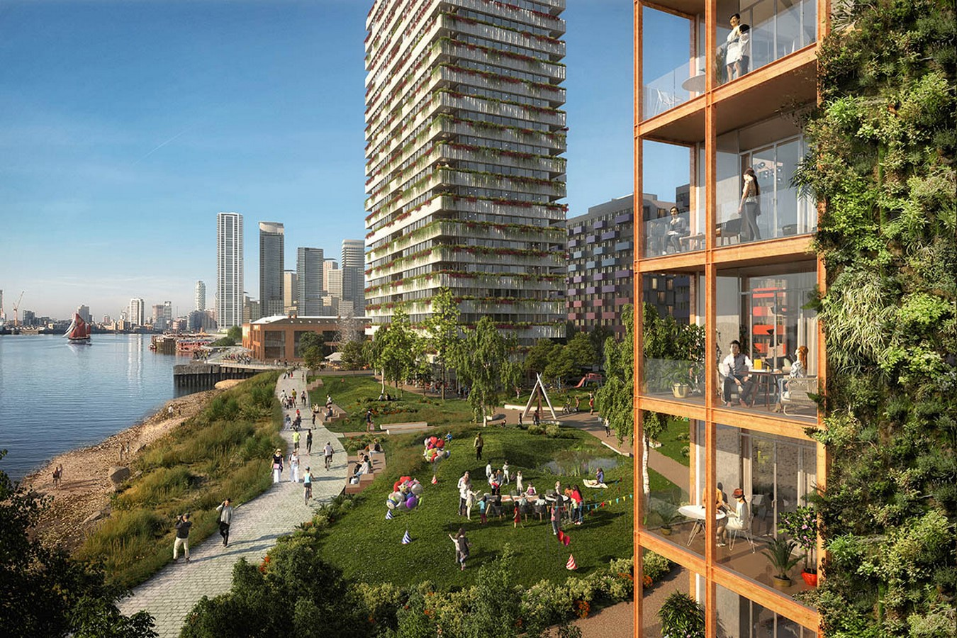 Masterplan by OMA / Reinier De Graaf For Morden Wharf In London Gets Planning Consent - Sheet4