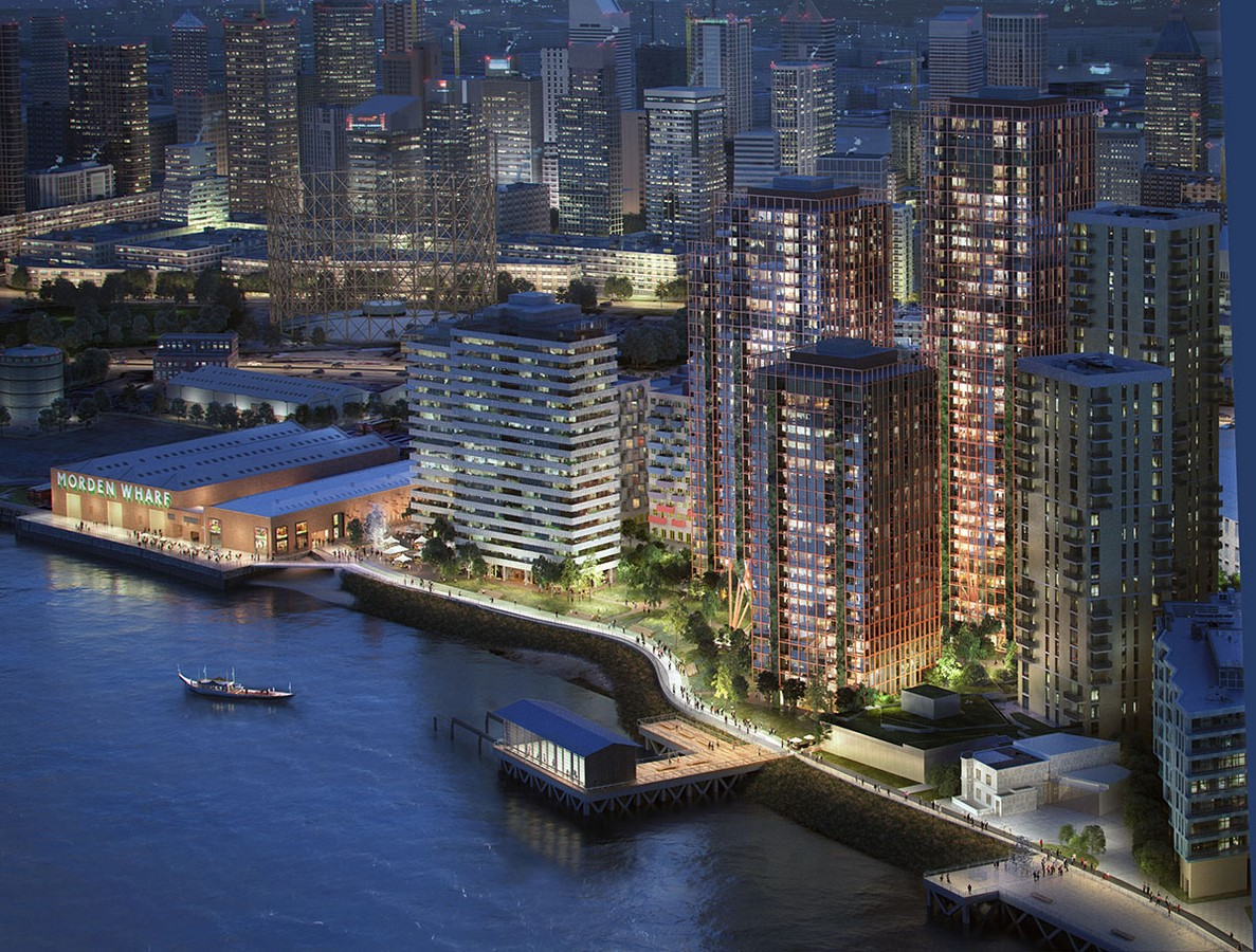 Masterplan by OMA / Reinier De Graaf For Morden Wharf In London Gets Planning Consent - Sheet6
