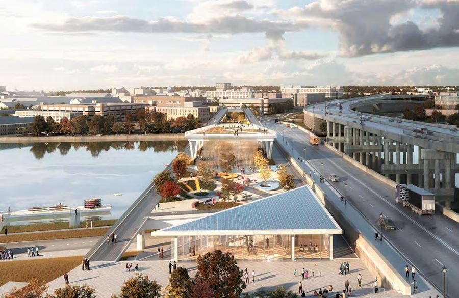 New Images of 11th Street Bridge Park in Washington D.C. revealed by OMA / Jason Long