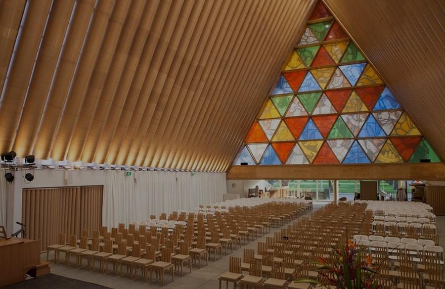 Cardboard Cathedral by Shigeru Ban: A Ray of Hope